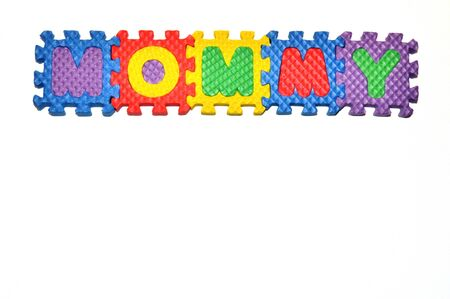 Connected Letters - Mommy in center on top Stok Fotoğraf
