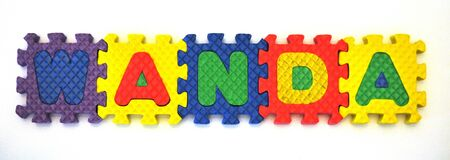 Connected Letters - WANDA in center