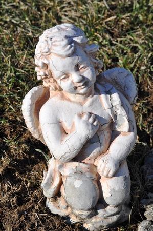 gravesite: Gravesite - Angel - stares full body