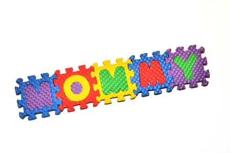 Mommy - letter blocks Stock Photo