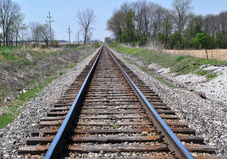 railroad transport: Train Tracks in the midwest