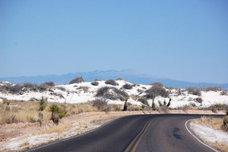 White Sands road Stock Photo - 8989284