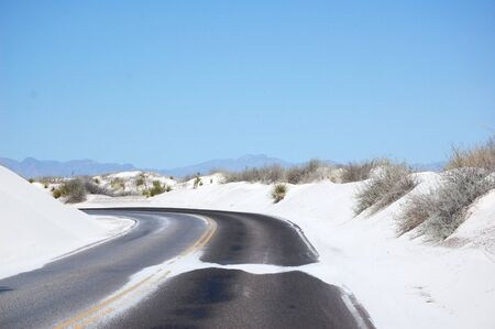 White Sands road Stock Photo - 8989279