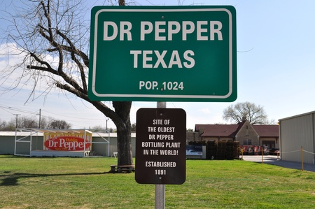 Sign Dr Pepper Texas Stock Photo - 11091788