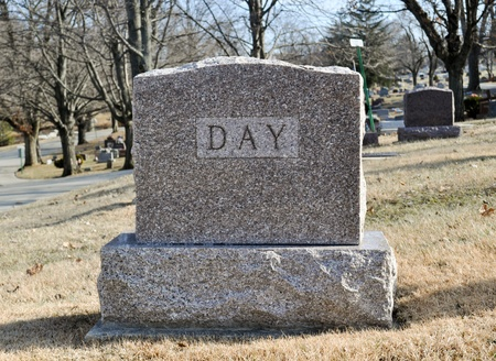 grave site: Death of a day