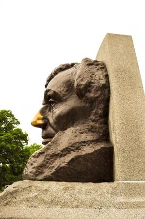 gravesite: Abraham Lincoln Gravesite Statue Stock Photo