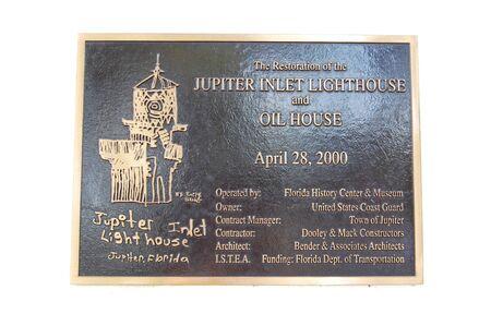 Sign Jupiter Lighthouse