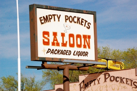 Arizona - Empty Pockets Saloon 版權商用圖片