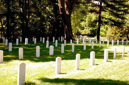 gravesite: Johnsons Island Confederate Cemetery Stock Photo