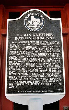 dr: Sign Dublin Dr Pepper