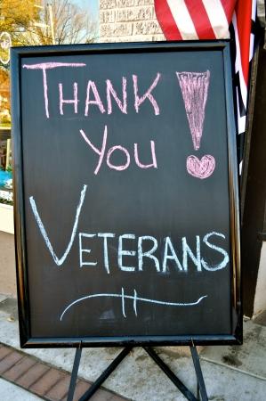 veterans: Thank You Veterans Sign Stock Photo