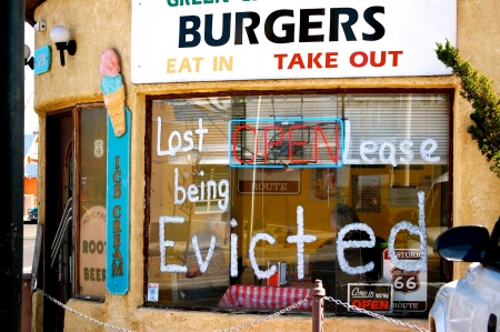 evicted: Route 66 - Lost Lease Being Evicted Editorial