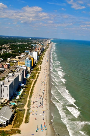 Aerial View of Myrtle Beach Coastline 版權商用圖片