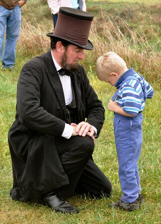 abe: Civil War Re-enactment - Abe and Child