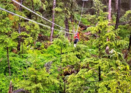 Ketchikan ziplining photo