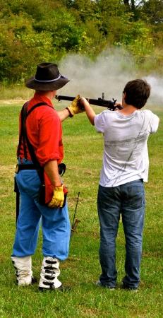 Civil war re-enactment - gun safety