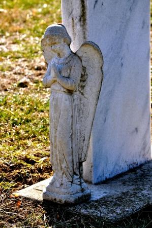 gravesite: Gravesite - Angel - Shadow Stock Photo