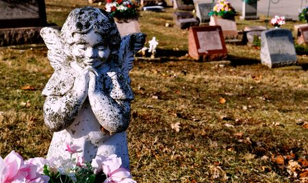gravesite: Gravesite - Angel - background Stock Photo