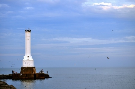 Lighthouse on Lake Erie