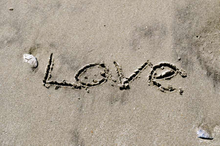 Love In the Sand Stock Photo - 15940089