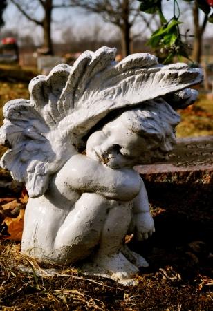 angel cemetery: Cemetery Angel Stock Photo