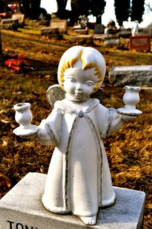 gravesite: Gravesite - Angel - blonde with candle holders
