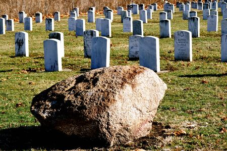headstones: Cemetery military headstones