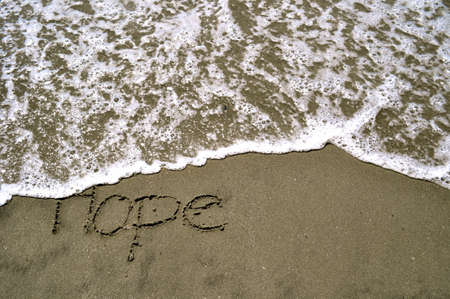 hope: Hope in the sand Stock Photo