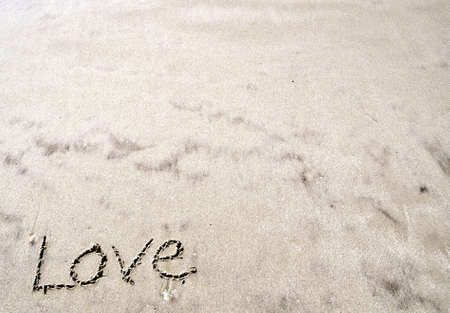 Love In the Sand Stock Photo - 17858456