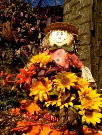Flowery scarecrow photo