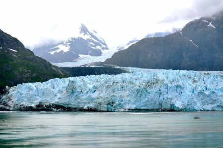 Alaskan Glacier and boat right