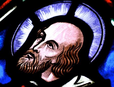 Jesus Christ's Follower in Stained Glass Reklamní fotografie - 22517166