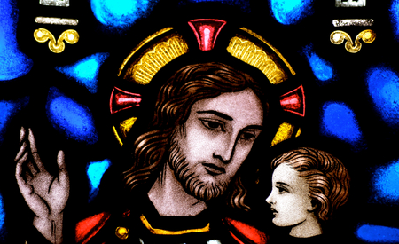 Jesus Christ in stained glass  Stock Photo - 22517175