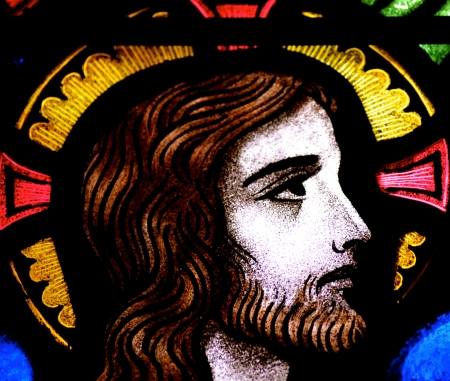Jesus Christ in stained glass Stock Photo - 22517177