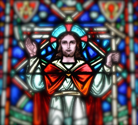 Jesus Christ in Stained Glass Stock Photo - 22517190