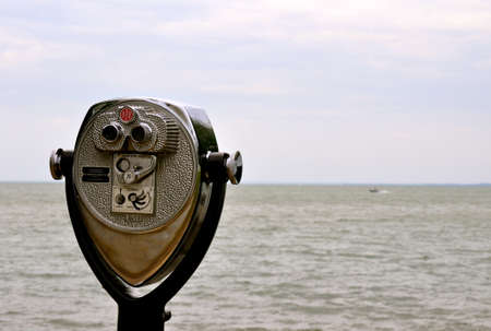 finder: View Finder Over Lake Erie  Stock Photo