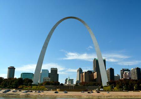 St. Louis Arch over a cityscape