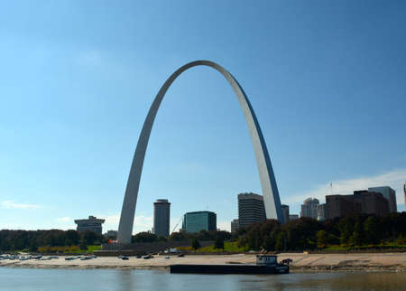 st  louis arch: St. Louis Arch in the background