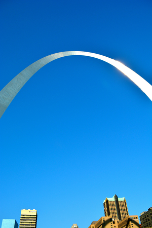 st  louis arch: St. Louis Arch from the Mississippi River