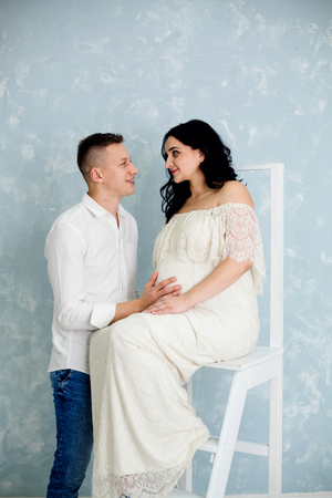 Pregnant women with husband