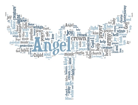 Angel word cloud photo