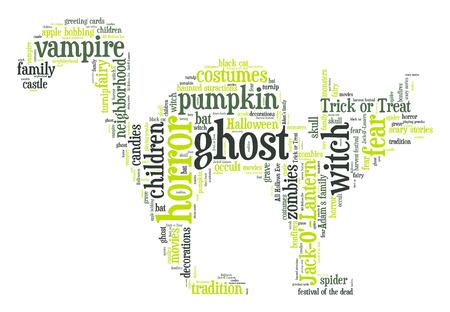 hollows: Halloween cat word cloud
