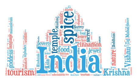 illiteracy: Taj Mahal word cloud