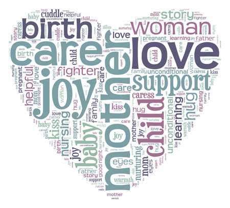 Mother love word cloud photo