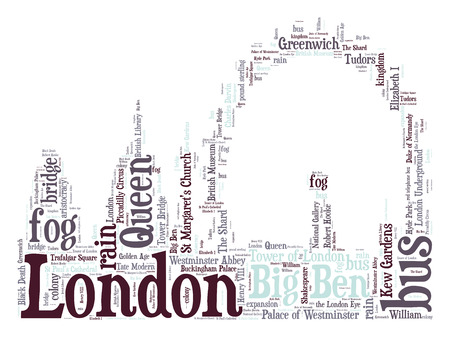 London skyline word cloud photo