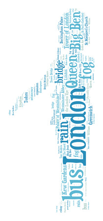 London queens guard word cloud photo