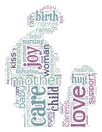 Mother pregnant word cloud photo