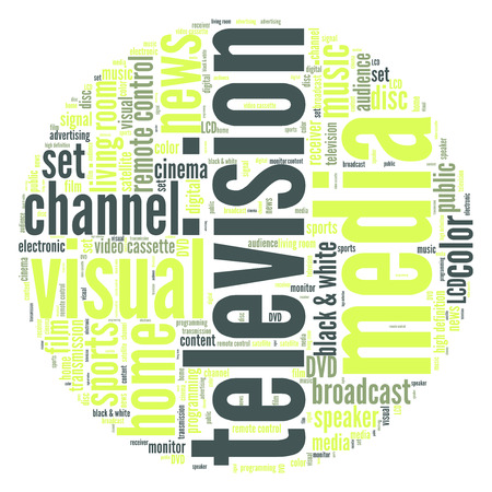 Television word cloud photo