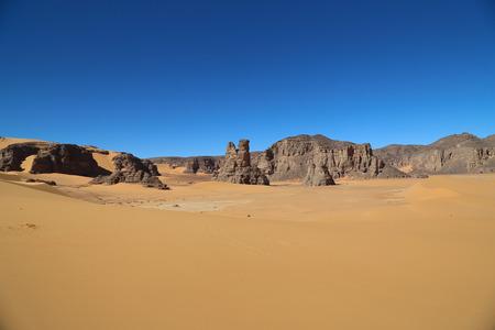 Sahara of Algeria Stock Photo
