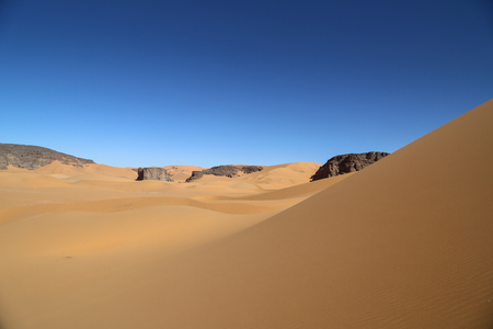 Sahara of Algeria Stock Photo